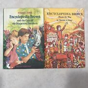 Vtg Encyclopedia Brown Hardcover Books 1972 And 1990 Shows The Way Sneakers
