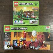 Lego Minecraft Lot Of Sealed Boxes Nether Fortress And First Night Sealed Sets