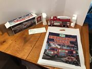 New Hess 2005 Emergency Truck With Rescue Vehicle Lights Up Mint In Box Amerada