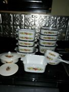1970s Vintage Pyrex Corning Ware Limited Fall Edition 23 Pics. Great Shape
