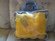 Vintage Chessie Railroad Blanket/throw 100 Wool 58w X 50h Zippered Carry Case