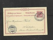 German Post Offices In China 1901 Railway Cancel On Reply Card