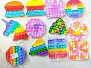 12x Wholesale Lot For Push Pop Fidget Toy Stress Relief Kids Game Toy Rainbow