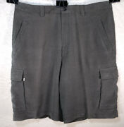 Tommy Bahama Silk Blend Relax Cargo Ribbed Shorts Sz 36 Olive Green