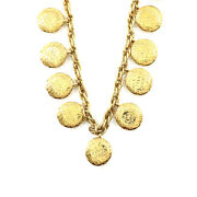Mademoiselle Coco Logos Necklace Gold Vintage Accessory 90120772