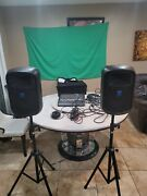 Pair Of Fbt Jolly 8baactive Speakers With Ftb Stand And Mackie Dfx12 Mixer Cabl