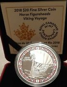 2018 Viking Voyage Norse Figureheads 20 1oz Pure Silver Proof Coin Canada