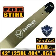 42 Solid Guide Bar .404 .063 125dl Compatible With Stihl 070 090 084 Chainsaw