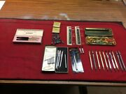 Antique Collectible . Cross Pens / Pencils With Accessories And More.