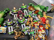Lot Of Thinkway Toy Story Talking Buzz Lightyear Woody Action Figures Disney