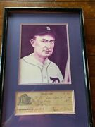 Ty Cobb Autographed 1930 Pristine Check Georgia Railroad Bank Extremely Rare