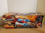 Air Hogs Fire Rescue Tethered Helicopter Playset Spinmaster Rare 2012 New