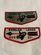 Esselen Oa Lodge 531 Lot Of 2 Flaps, Green And White Flap Www, Order Of The Arrow