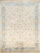 100 Silk Floral Vegetable Dye Traditional Oriental Area Rug Hand-knotted 8x10