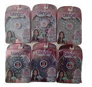 Blinger Sparkle Collection Refill Pack - 75 Adhesive Gems - Set Of 6 New..