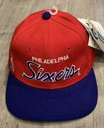Vintage Philadelphia 76ers Baseball Hat Pro Fit Size 7 With Tags