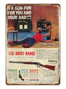 Bedroom Accessories 1960s Daisy Toy Gun Rifle Metal Tin Sign