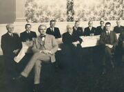 1930s Group Of Attorneys Knox County Ohio Professional Holiday Dinner Alcove