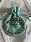 7.25 And Co. Toggle Sterling Silver Mesh Somerset Bracelet W/ Bag
