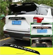 Accessories For Ford Explorer 2020-21 Black Rear Door Trunk Led Tail Light Cover