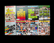 Sports Illustrated Year In Sports 8x Lot 1977 1978 1979 1980 1981 1982 1983 1984