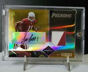 2004 Leaf Limited Gold Phenoms Larry Fitzgerald Auto / Patch 06/10 Rc Rare