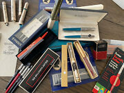Early Estate Parker Pens Executive 31 Pens And Pencils And Extras Some Prototypes