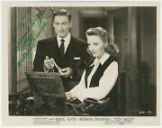 Barbara Stanwyck Signed 1947 Photo Still From Cry Wolf / Autographed