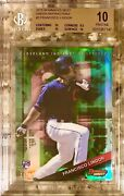 2015 Pop 1 Lindor Rookie Rc Green Refractor Bowmanand039s Best 3 Bgs 10 Pristine