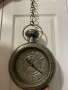 Vintage German Embossed And Engraved Hanging Or Wall Clock Works Great Very Rare