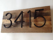 House Numbers   Address Plaques   House Number Signs   Farmhouse   Rustic Decor
