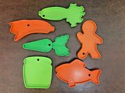 Vintage Mattel Tuff Stuff Toy Play Food Grocery Cart Replacement Pieces Lot Of 6