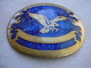 Vintage Largest Johnson And Held Buckle. American Eagle. 6.125 Inch By 4.625 Inch.