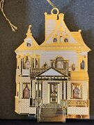 Royal Copenhagen Collections First Victorian Doll House Christmas Ornament 24k