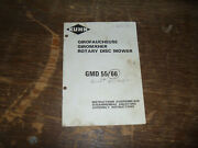 Kuhn Gmd 55 66 Rotary Disc Mower Owner Operator Maintenance Manual User Guide