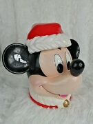 New Enesco Mickey Mouse Christmas Cookie Jar Mickey And Co
