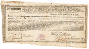 1780 Israel H Buker Continental Army Officer Signed Mass Treasury Commodity Bond