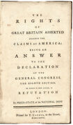1776 Book The Rights Of Great Britain Asserted Against The Claims Of America