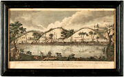 1789 Print View Of The West Bank Of The Hudson River 3 Miles Above Still Water