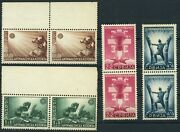 Serbia 2nb15-2nb18 Wwii German Occupation Semi-postal Stamp Pair Collection