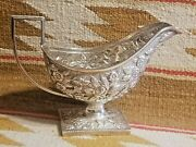 Fantastic S Kirk And Son Coin Silver Repousse Sauce Or Gravy Boat 1860's Sterling
