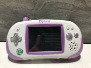 2010 Leapfrog Leapster Explorer Handheld Game System Purple And White Untested
