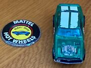 1969 Hot Wheels Original Owner Heavy Chevy Green White Striped Car And Badge
