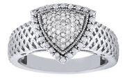 Diamond 14k White Gold Over Sterling Silver Triangle Ring