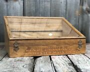 Early Tool Henry L Hanson Worcester Ma Hardware Country Store Display Glass Wood