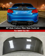 For 2014+ Bmw F22 F87 M2 M235i 2 Series Carbon Fiber Trunk Boot Mp Style