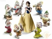 Nao By Lladro Set Disney 7 Gnomes And Snow White New Figurine