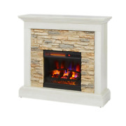 Electric Fireplace Firebox 120 Volt Mantel Remote Control Infrared Plug In White