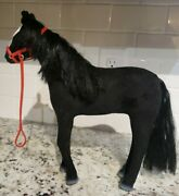 15 Fabric Coated Black Western Appaloosa Horse Toy Jointed Figure