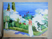 South Melody Original Picture In Oil Canvas Water Sea Summer Free Shipping
